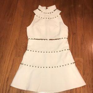 ASOS White and Beaded Dress